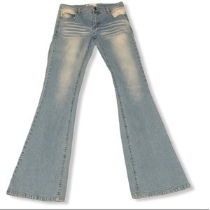 Hydraulic Jeans - Hydraulic Jeans Size 3/4 Bleach Fade Whisker Jeans